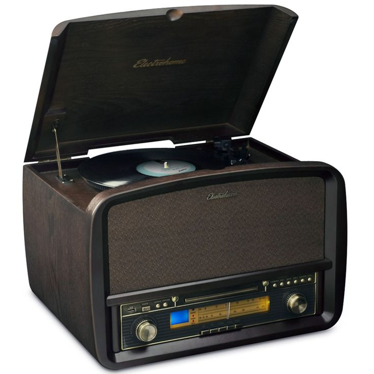 If you want a vintage vinyl record player that has built in speakers, the Electrohome Signature Vinyl Record Player is certainly worth a look!