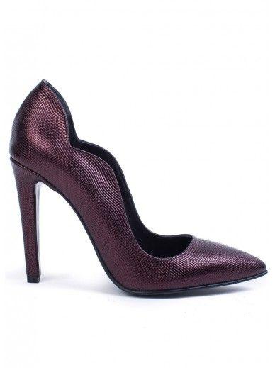 Pantofi Aria Bordo Brobonat