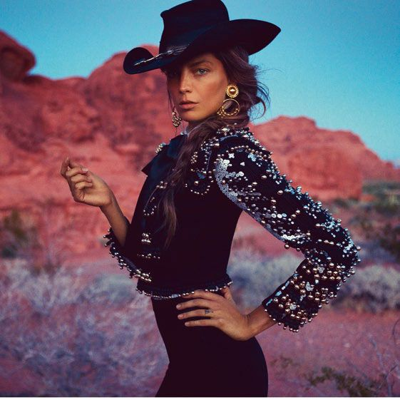 Bullfighting cowgirl