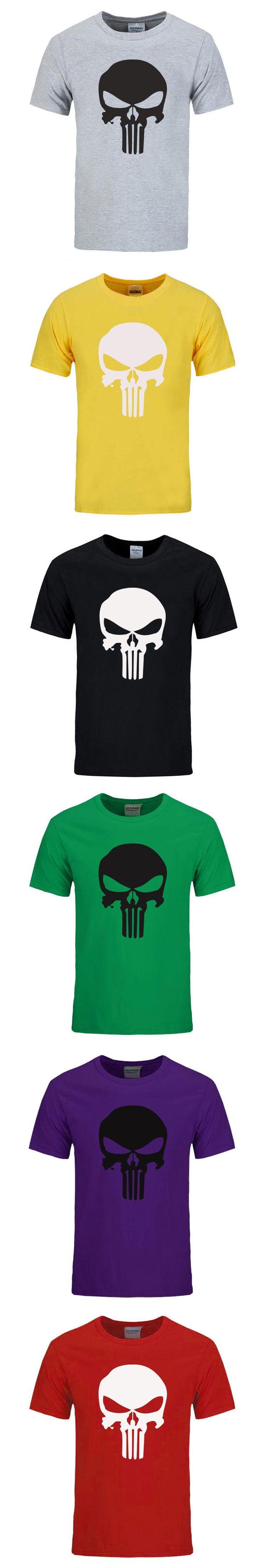RUMEIAI New Punisher skull Men T shirt Fashion Cotton O neck Hip Hop T shirt Men Casual Short Sleeves T-shirt Men Brand Clothing