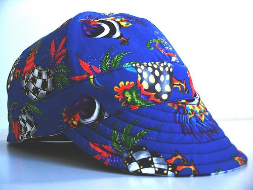 Reversible welding hat: side A by Seamingly Simple, via Flickr--will make one for DS