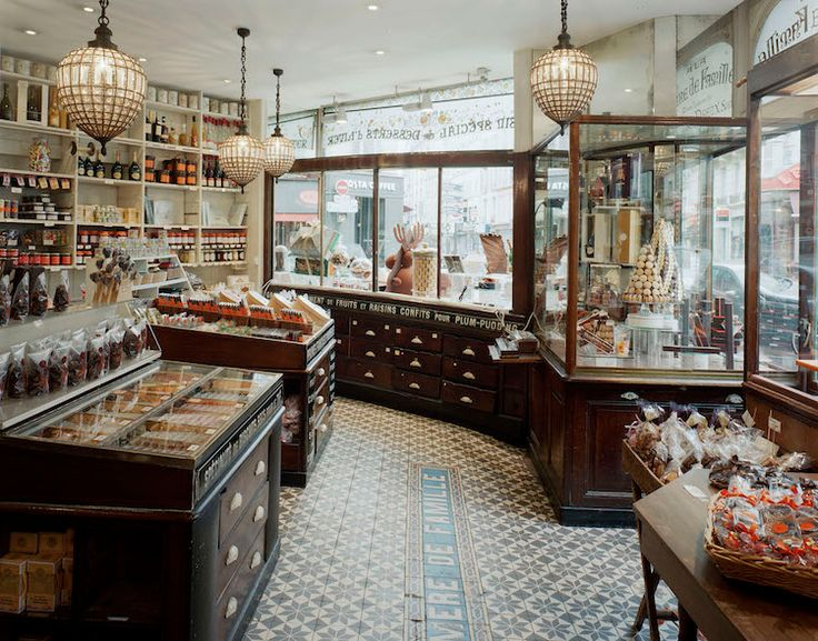 Want to wander into the oldest candy shop in Paris? Here, we explore the sweet story behind À la Mère de Famille, a chocolate shop founded in Old Candy, Paris Shopping, Vintage Candy, Chocolate Shop, Shop Interior Design, Store Design, Candy Shop, Antique Shops, Store Fronts