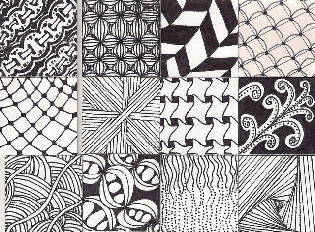 Zentangle Pattern Twinchies part 2  #ZentangleDesign  #sampler