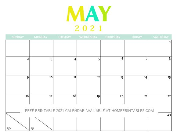 Free Printable 2021 Calendar PDF: Clean and Pretty! in ...