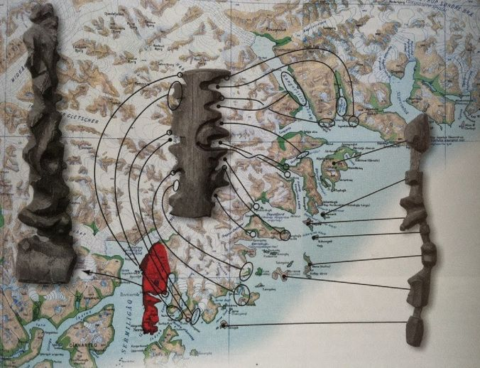 Inuit Cartography - maps carved into driftwood