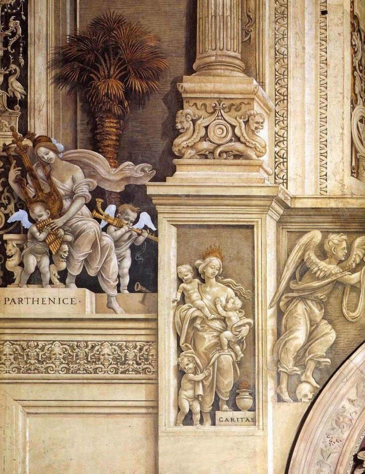 Filippino Lippi - Allegorie (dettaglio) - affresco - 1489-95 - Cappella Filippo Strozzi - Basilica di Santa Maria Novella, Firenze