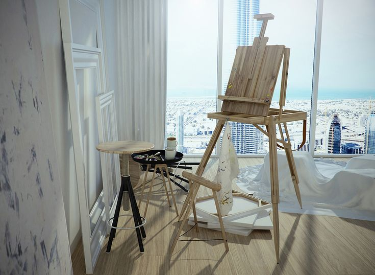 Artist Studio Design Ideas - Vintage Artist Studio Easel