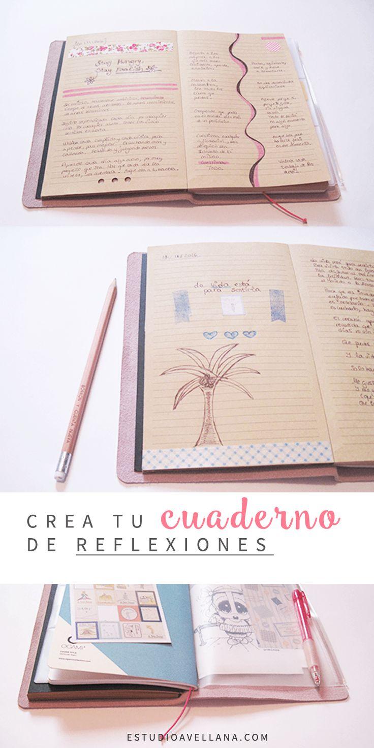 Ideas de agendas decoradas: cuaderno de reflexiones
