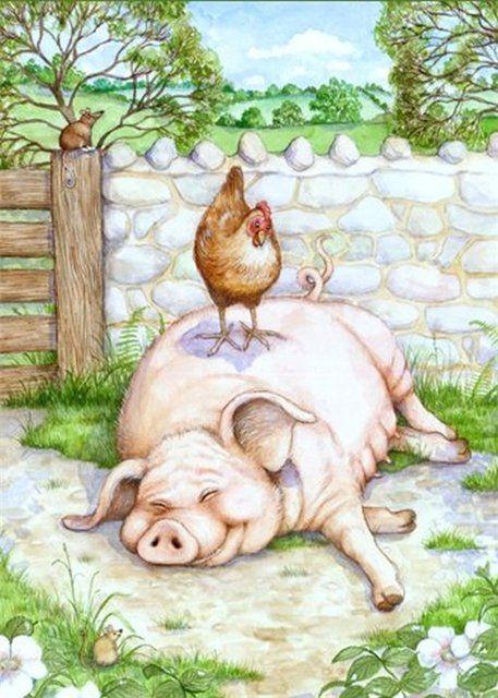 Прикольные рисунки про свинью, картинки бличе как