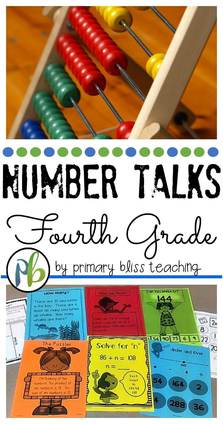 Are you looking for daily number talk ideas and activities to implement in your fourth grade classroom?  If so, click here!