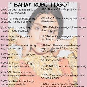 Bahay Kubo Hugot Hugot Pinterest Hugot Tagalog Quotes And