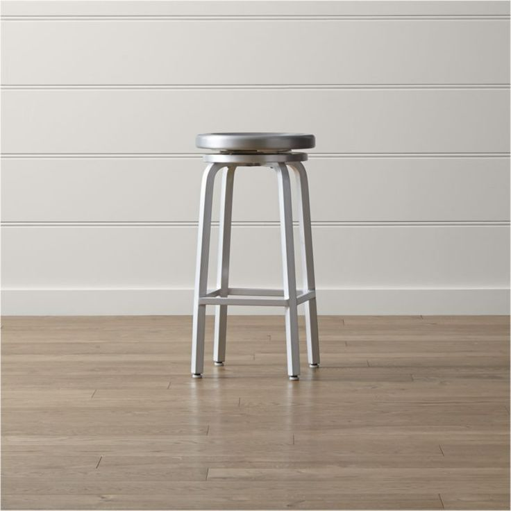 Spin Swivel Backless Bar Stool | Crate and Barrel & Best 25+ Backless bar stools ideas on Pinterest | Stools for ... islam-shia.org