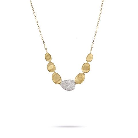 Lunaria Gold & Diamond Pave Large Graduated Necklace