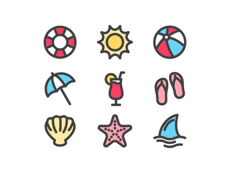 Beach Icons Pack by Ady Aribowo