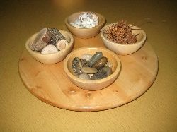 stones and shells and sticks