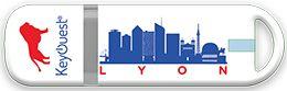 """Pack clé USB 16 Go """"Ville"""" Lyon - KeyOuest http://www.keyouest-mobility.com/produits/cle-usb-16-gb-mappy-lyon-keyouest/"""