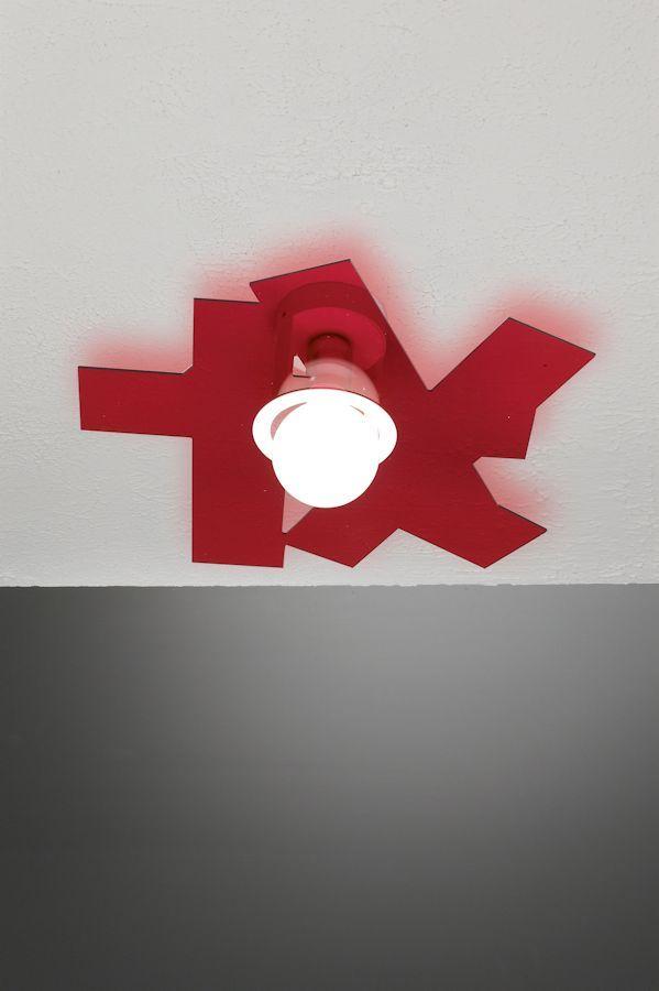 Karty Parete/Soffitto Color Rosso