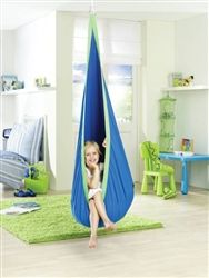 Hammock swing. Sensory swing. Would be great for sensory corner because it has one mounting point as opposed to the large swing stands.