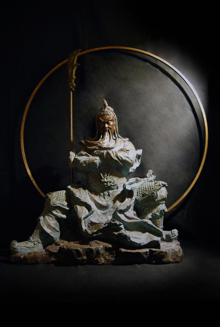 林韋龍 銅雕 - 王者風範 (關公)