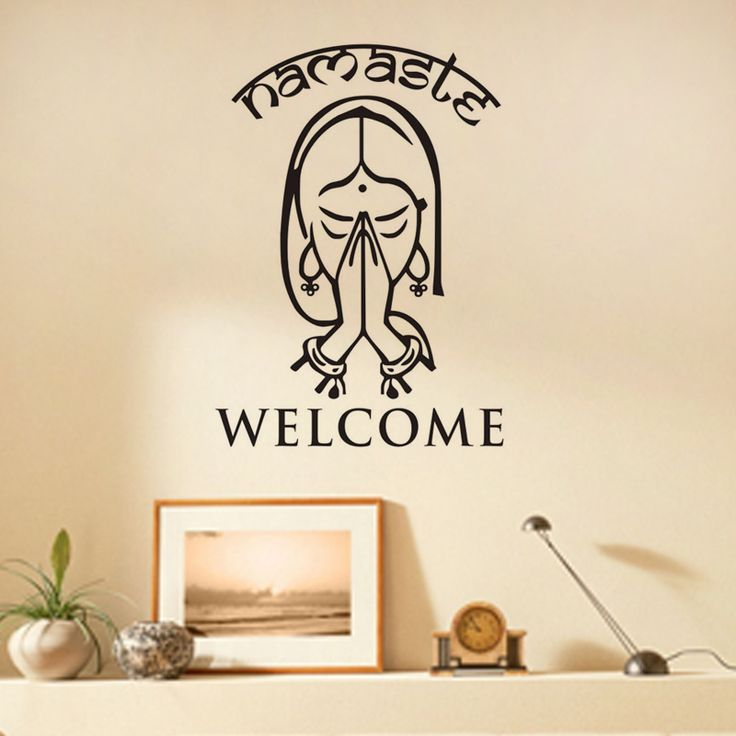 Welcome Namaste Wall Decals Vinyl Art Wall Stickers Home Decor Living Room  Yoga Studio Wall Decoration Part 69