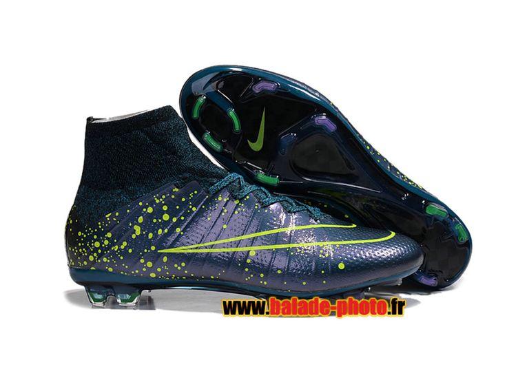 2015 Dernières chaussures de football Nike Mercurial Superfly FG Crampons bleu pomo jaune 5907