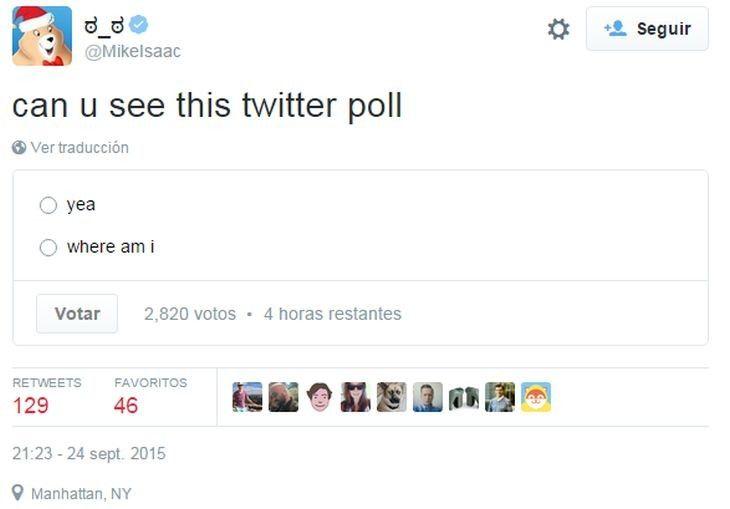Conoce sobre Twitter experimenta con la función de encuestas