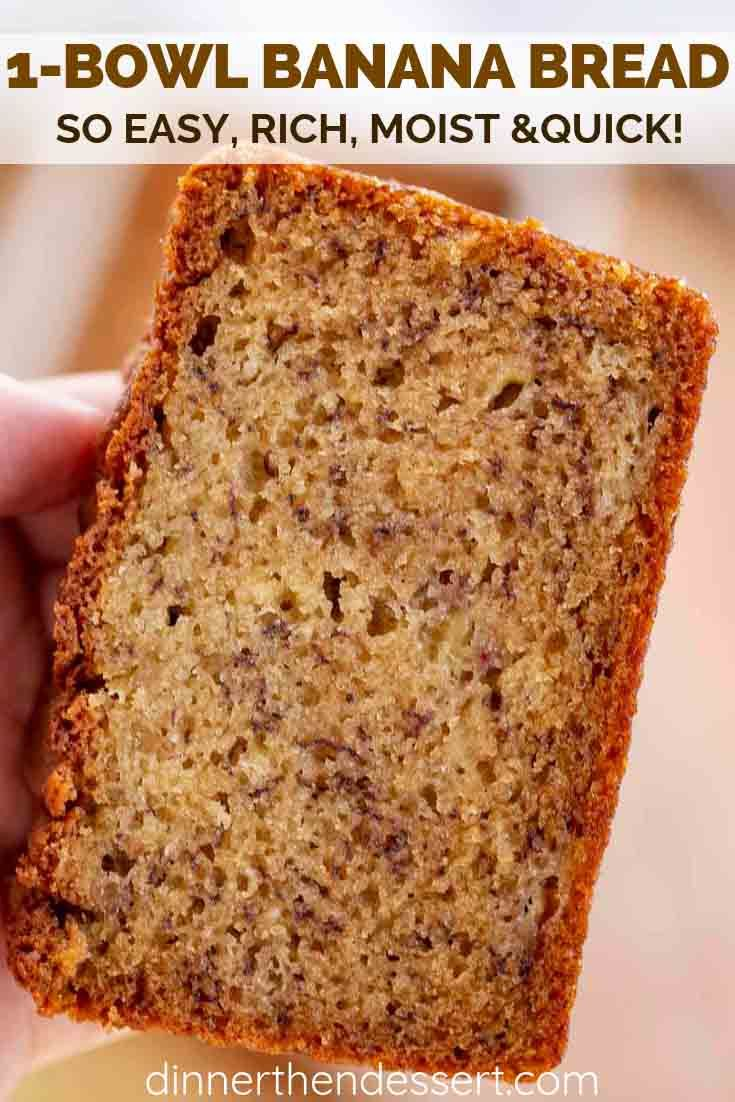 Easy Banana Bread Made With Ripe Bananas And Sour Cream Is The Perfect Combo Of Moist Banana Bread Recipe Easy Moist Easy Banana Bread Sour Cream Banana Bread