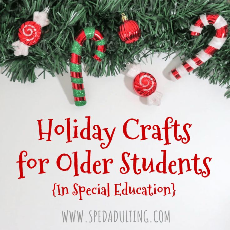 Holiday Crafts for older students in special education, age appropriate and cost effective gifts