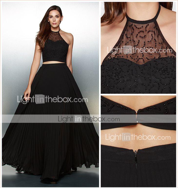 Ts couture® vestido de noche formal - dos piezas una línea cabestro palabra de…
