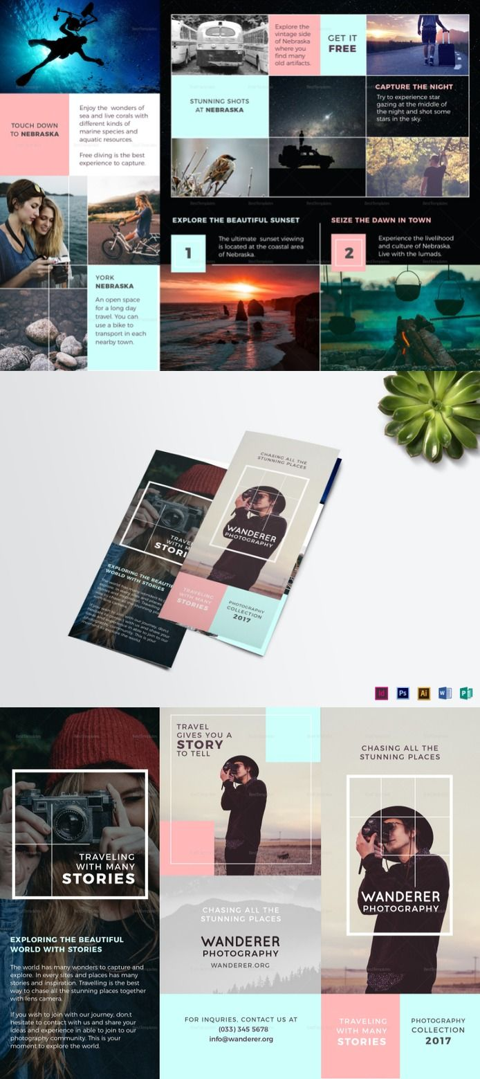 Wanderer Photography Brochure Template - Formats Included ...