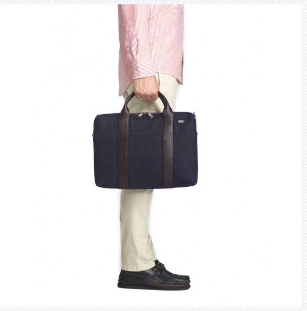 NWT Jack Spade Men's Waxwear Davis Brief Adustable Waterproof Laptop Bag - Black  | eBay