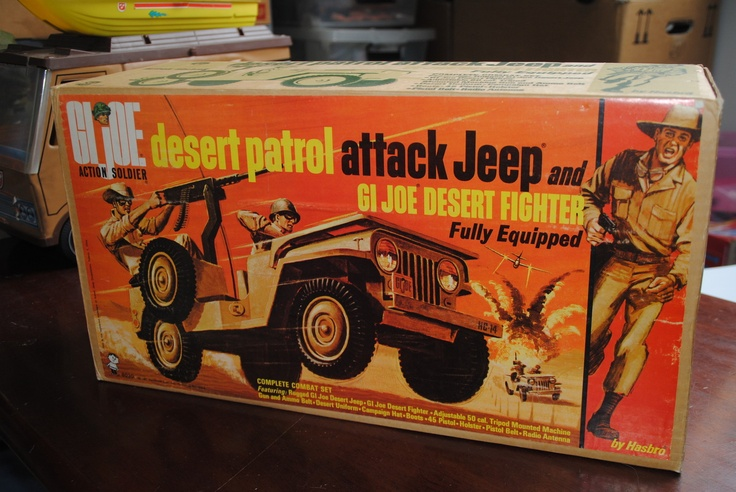 GI JOE DESERT PATROL ATTACK JEEP AND GI JOE DESERT FIGHTER ...