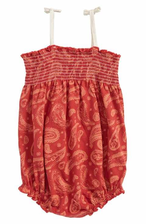 d6931fcbfc Burt s Bees Baby Flowery Paisley Organic Cotton Bubble Romper (Baby Girls)