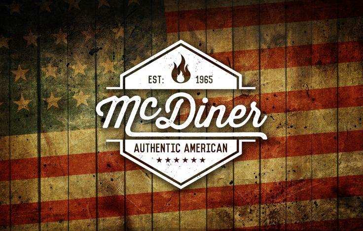 Logo design for a McDonald's presentation typography rustic us american diner authentic flames grill burger fire McD's matt carter