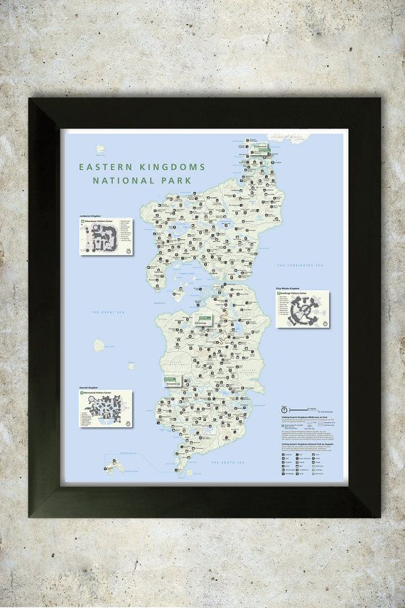 Middle East Map National Geographic%0A Eastern Kingdoms National Park Style   x   Poster