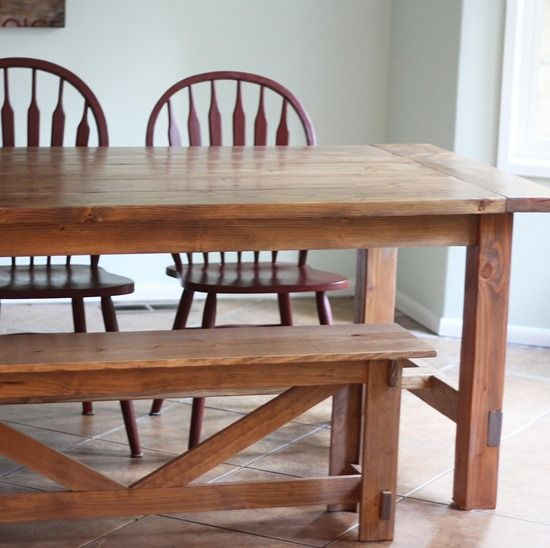 Build A Kitchen Table: Farmhouse Table & Bench Plans