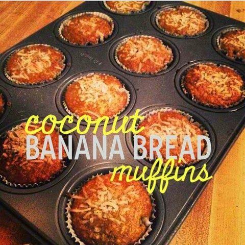 Coconut banana bread, Banana bread muffins and Banana bread on ...
