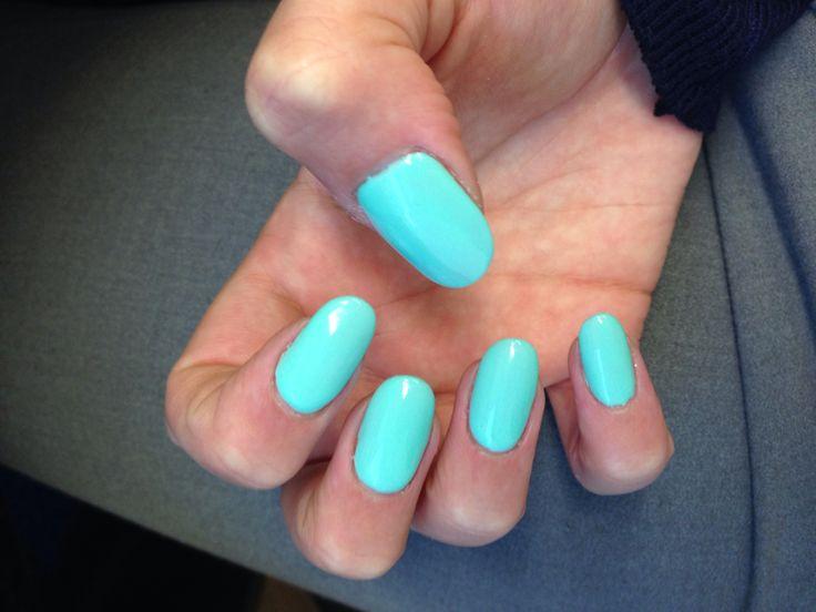 Tiffany Blue Shellac. Round. 230714