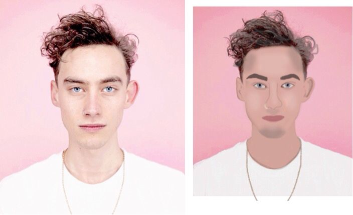 Cartoon version of Olly Alexander