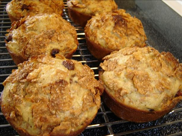 These were good... not something I'd serve to a party without a little more decoration effort, but good to make as an on-the-go breakfast! Applesauce Raisin Bran Muffins :)  Healthy Sweet Cheap!