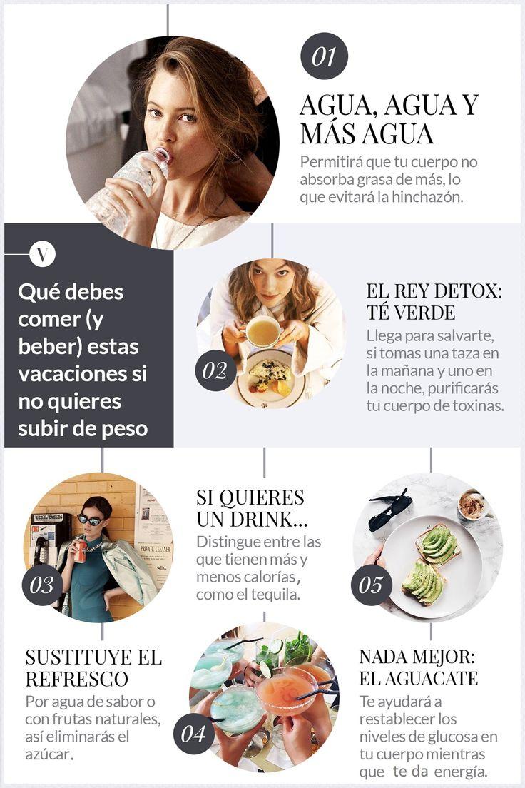 Los secretos y cómo aplicarlos para disfrutar de tus vacaciones sin regresar con una talla encima.  #Vacations #Diet #Dieta #Fitness #Skinny #Water #Agua #Aguacate #Avocado #GreenTea #TeVerde #Tips #TipsParaBajarDePeso #BajarDePeso #Enflacar