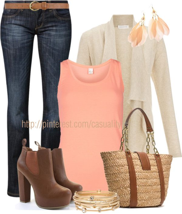 """Bootcut Jeans & MK Tote"" by casuality on Polyvore"