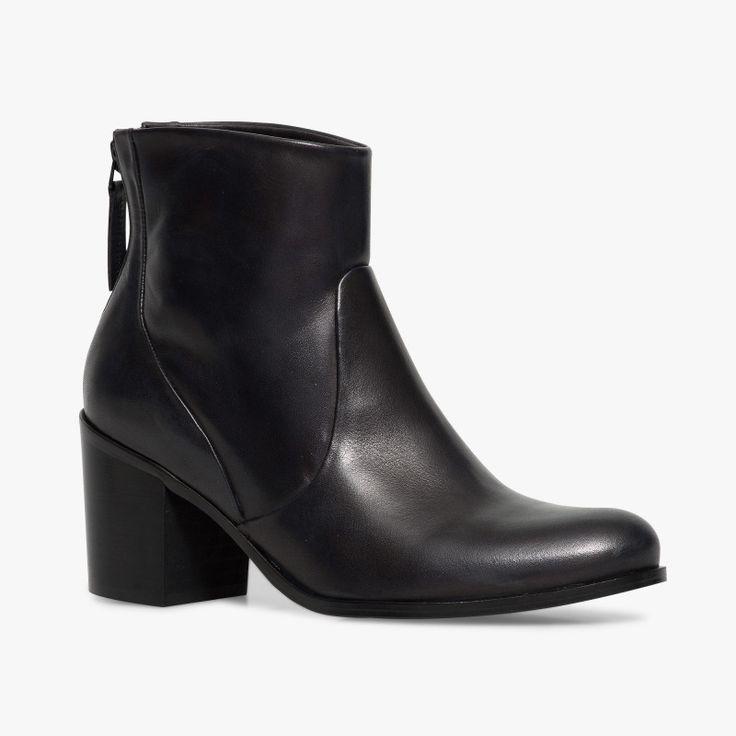 boots talon noir en cuir shoes pinterest bottes. Black Bedroom Furniture Sets. Home Design Ideas