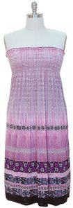 strapless sundresses for women | Womens-Strapless-Smocked-Maxi-Sun-Dress-Pink-Purple-Sundress-Plus-Size ...