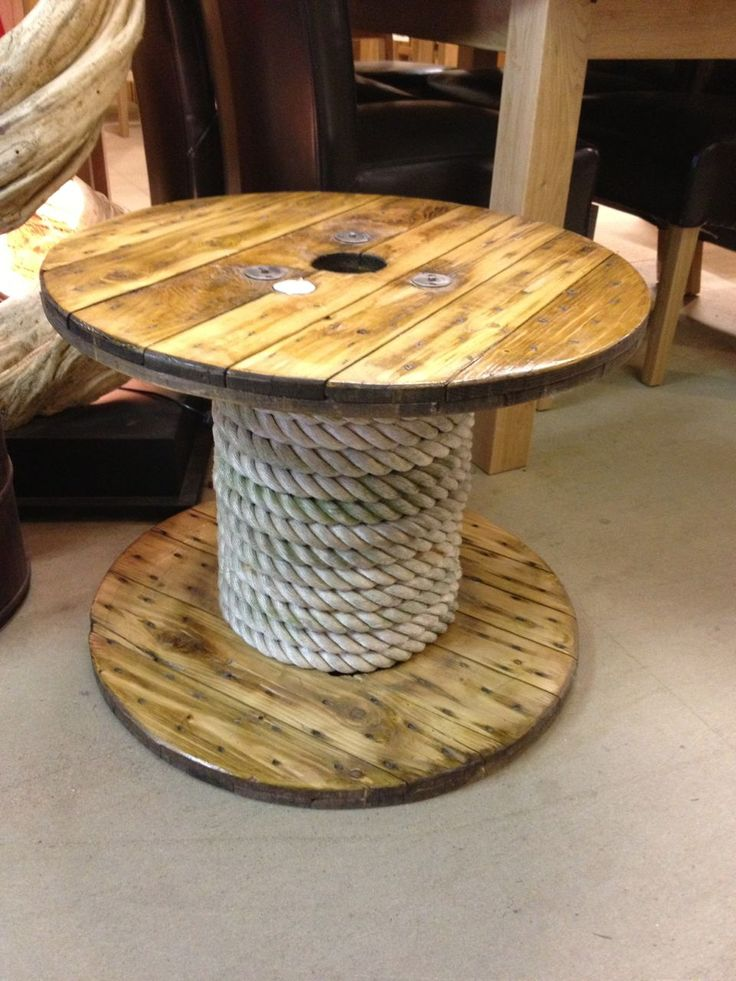 25 best ideas about cable reel table on pinterest cable for Cable reel table