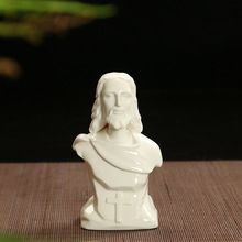 Christianity ceramic Jesus figurine home decor crafts room decoration ceramic kawaii ornament porcelain figurines gift
