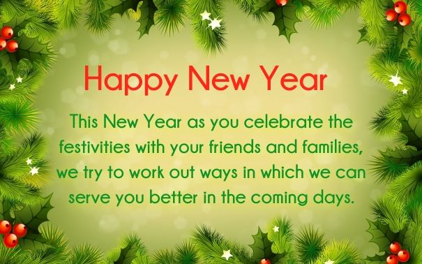New Year Greetings For Customers