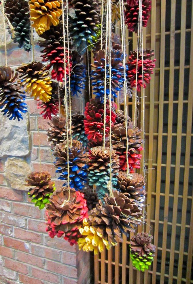 Pine Cone Decor - what age eat beginning of year art project for the whole class!
