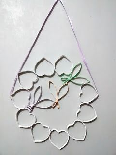 Fina Flor: Guirlanda com rolo de papel (lilás)