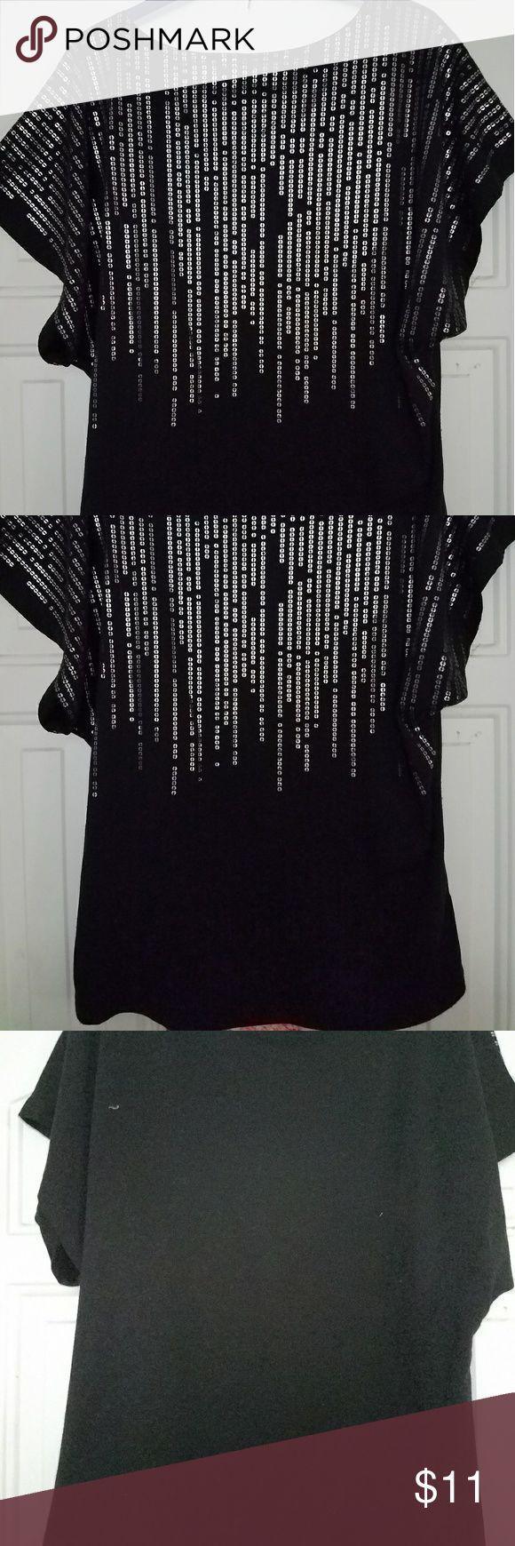Vintage Suzie Black T-shirt black and silver short sleeve top Vintage Suzie Tops Tees - Short Sleeve